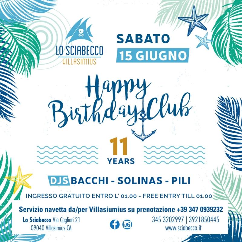 Img Web Happy Birthday Club 15 Giugno 2019 Sciabecco Villasimius