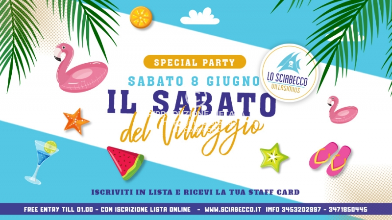 Img Web Il Sabato Del Villaggio 8 Giugno 2019 Sciabecco Villasimius