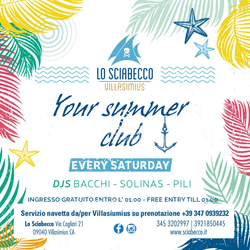 Img Web Il Sabato Sciabecco Your Summer Club Villasimius